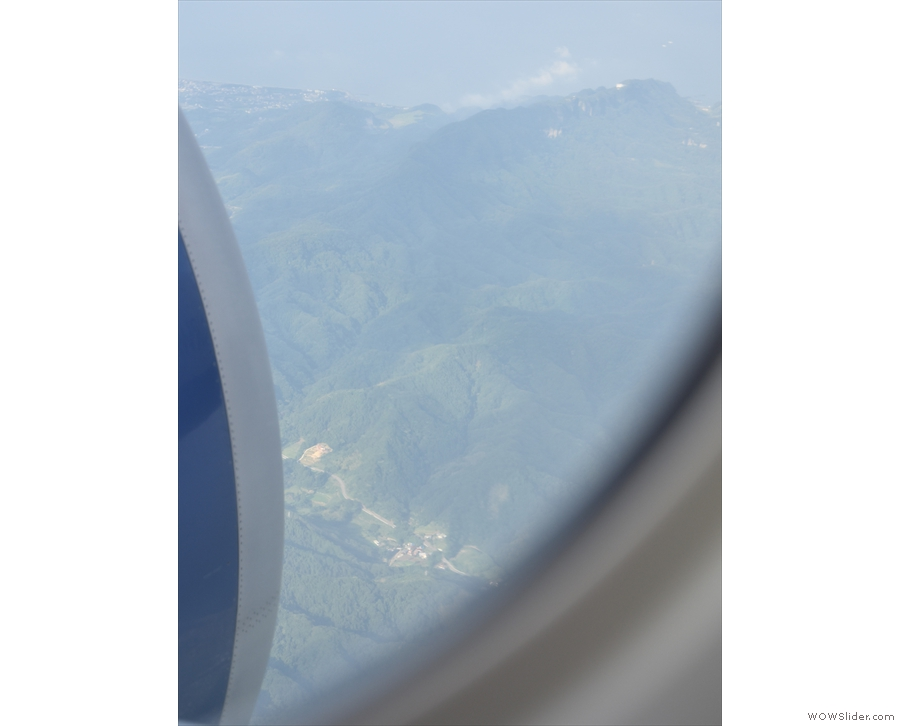 Some lovely mountains down there.