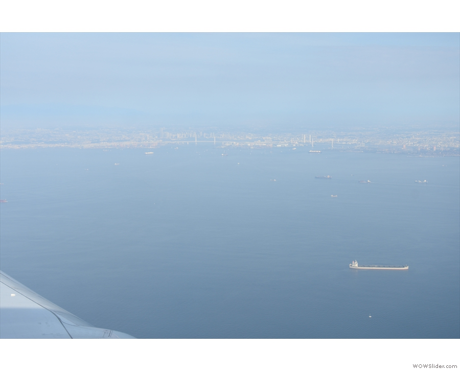 This is Tokyo Bay, which was full of huge ships like this one...