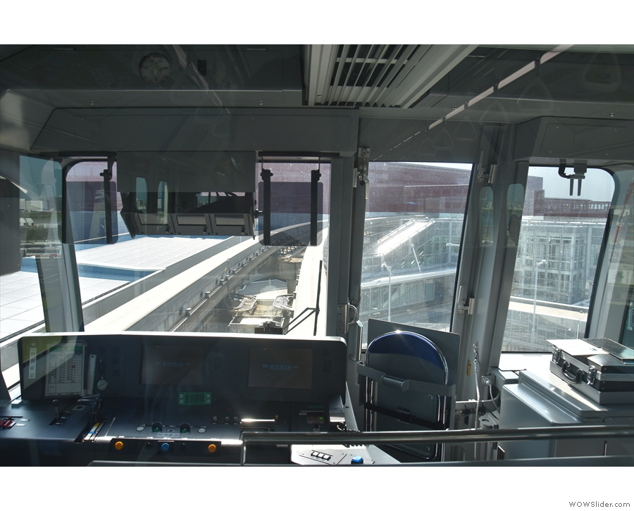 One of the great things about public transport in Tokyo is that they let me drive the trains.