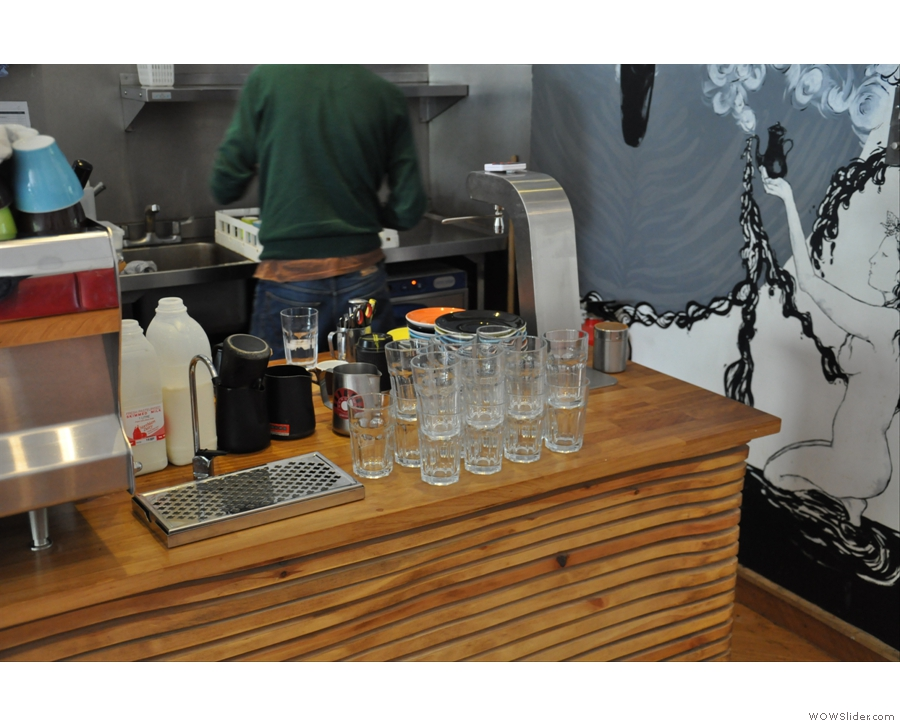 The water station and the brew bar.