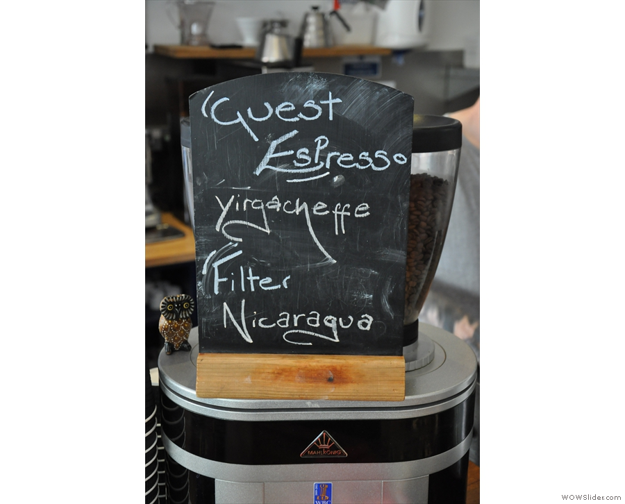 Hmmm, Yirgacheffe is not my favourite bean for an espresso. Pour-over it is then (filter being batch-filter).