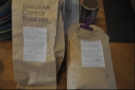 I was offered a choice of two of the Barista's favourite coffees from Horsham. The one I turned down (Nicaragua La Cascada, on the right) sounded way too fruity for my palette!
