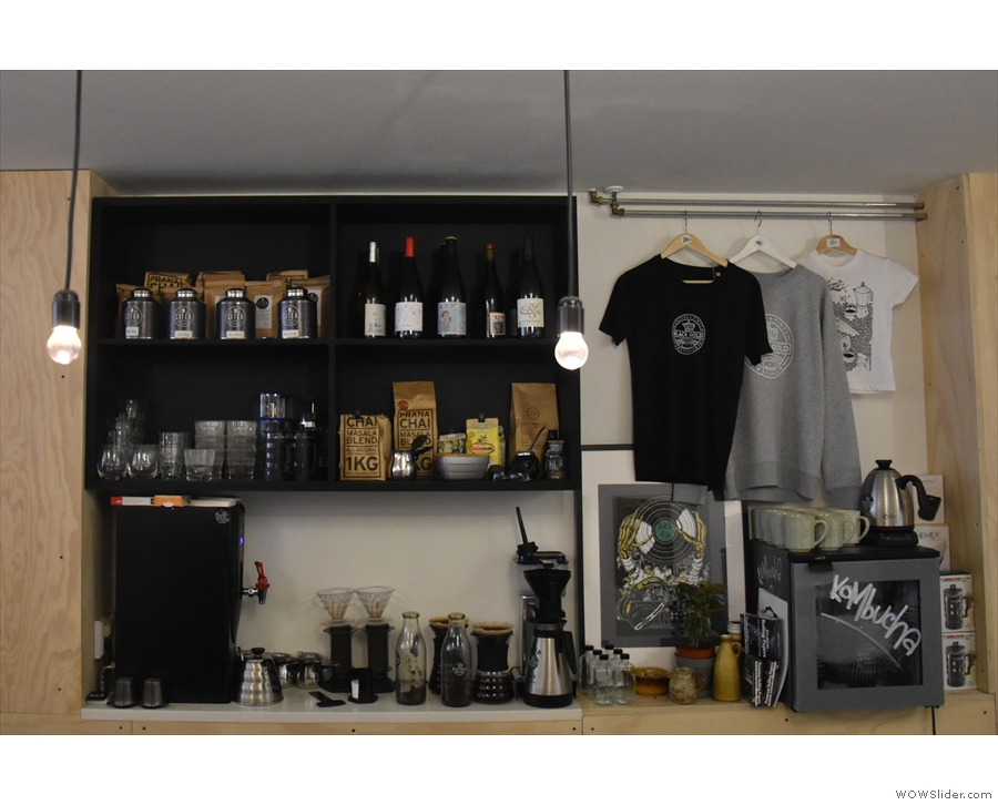 As well as vinyl, there's merchandising for sale...