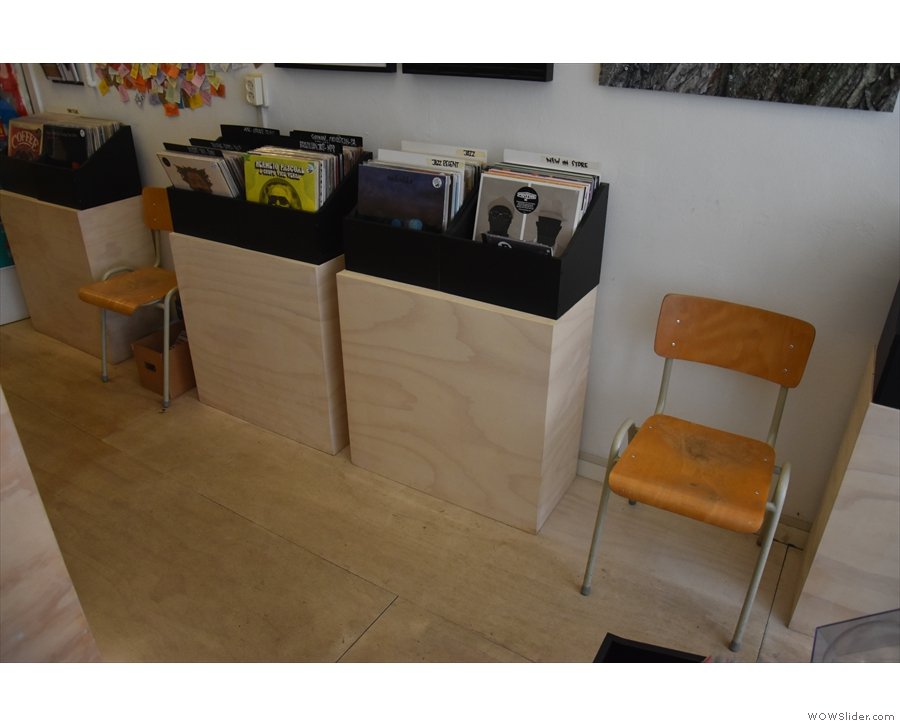 ... including these chairs along the right-hand wall by the records...