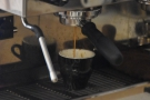 ... which makes it perfectly-placed for watching espresso being made.