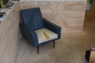 ... and this armchair in front the counter. There's another in the corner by the window.