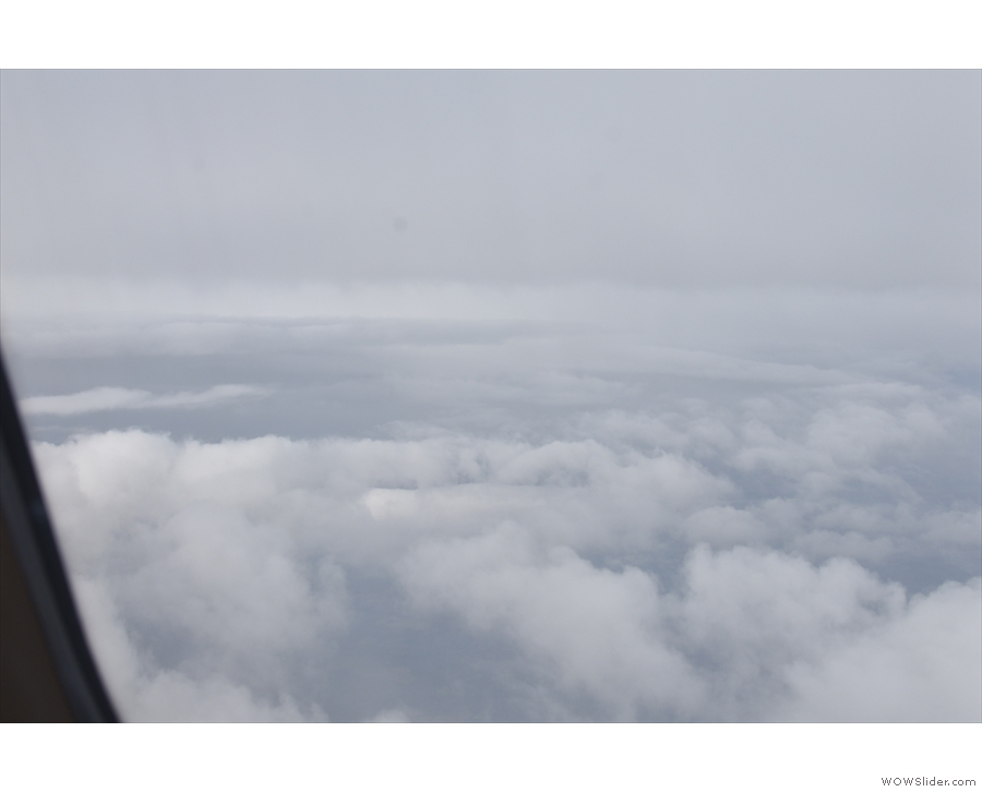 Clouds obscured the Midlands...