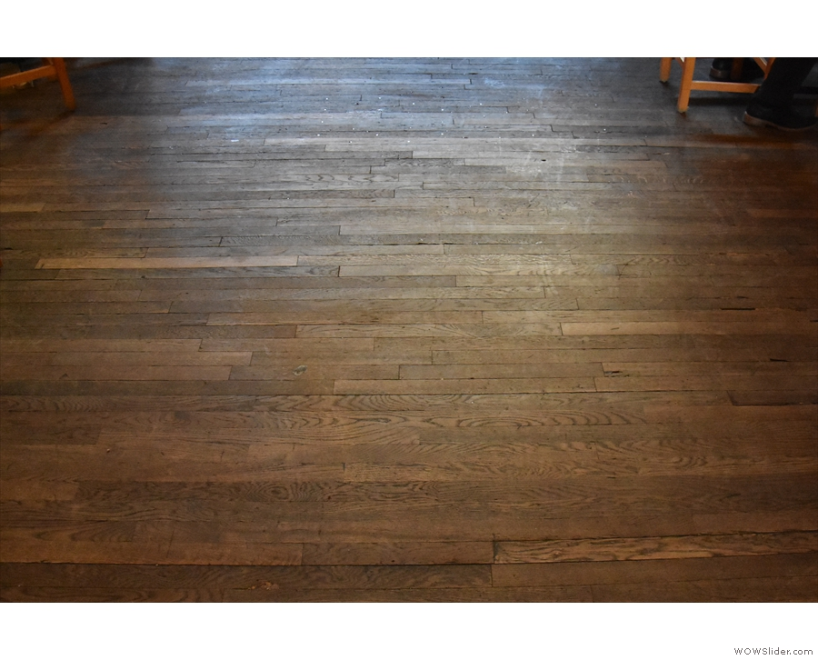 There's also a glorious wooden floor...