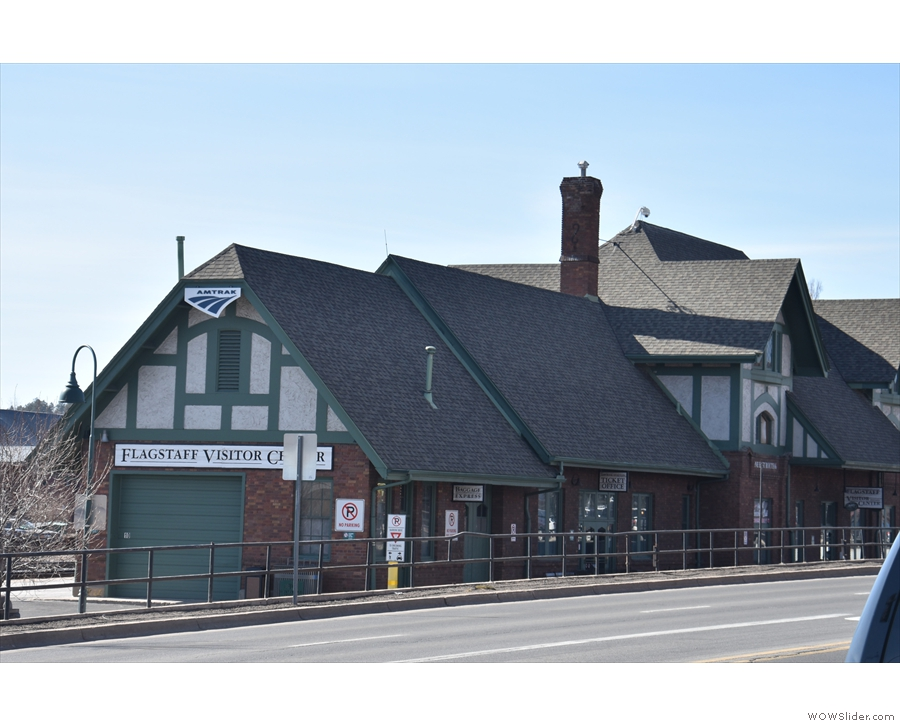 There's still an Amtrak station here, with one train a day, almost directly across the road.