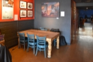 Right at the back, up against the back wall, is another six-person communal table.