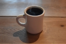... from where it is poured into the mug for serving.