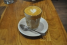 My lovely double-shot cortado.