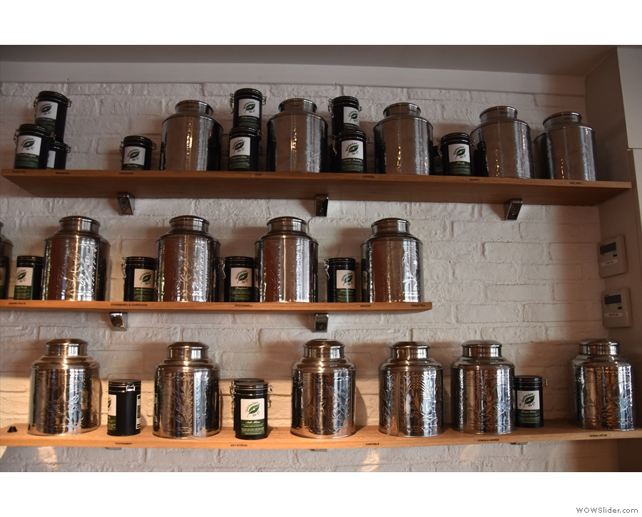 There's an excellent tea selection from the Twickenham Tea Company...