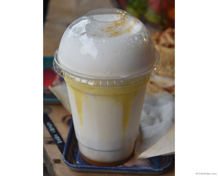 This is not mine: it's the Frappers Delight, an Athens-inspired iced coffe (I think).