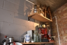 ... and up above that, high in the corner, some vintage coffee gear.