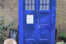 Naturally there's a Tardis in the yard. Every coffee shop has one, don't they?