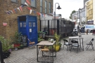 The outdoor seating is a bit of a moveable feast: this is how it looked during my visit...