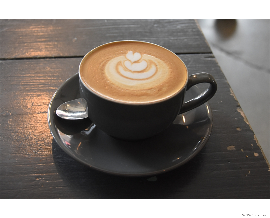 ... which I paired with a flat white, made with Ozone's Empire Blend.