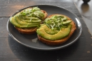 I was there for breakfast, selecting that old standby, avocado on toast...