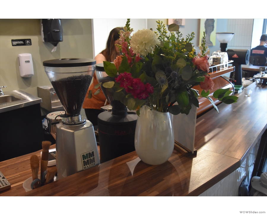 I liked the flowers on the counter...