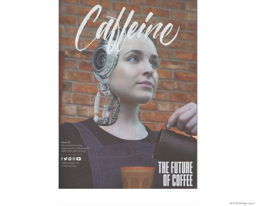 Issue 32 looks at the future of coffee, with a striking cover image.