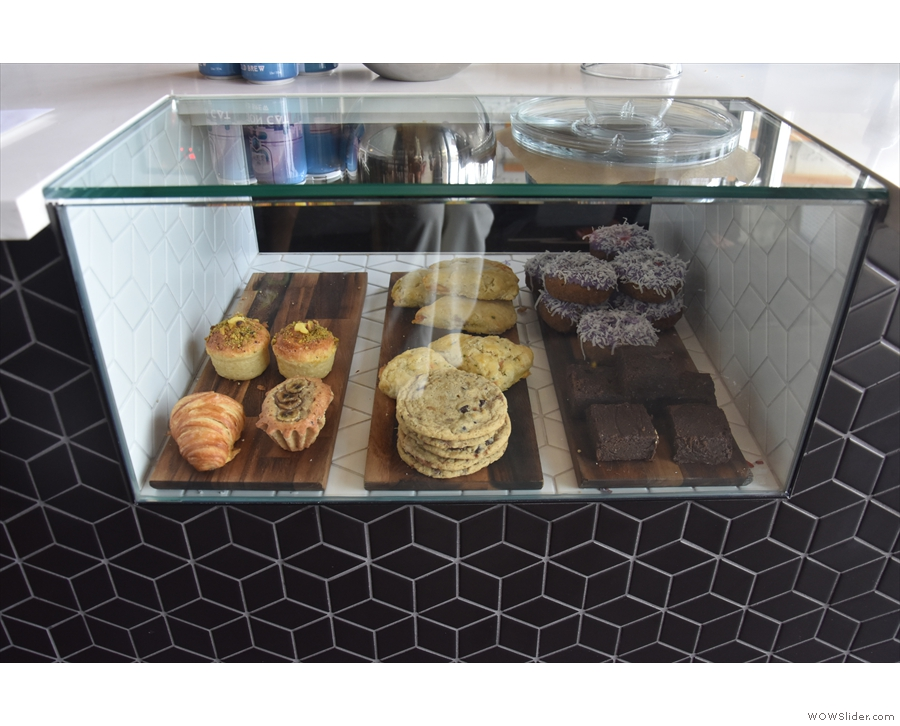 ... while on the counter itself is the cake cabinet...