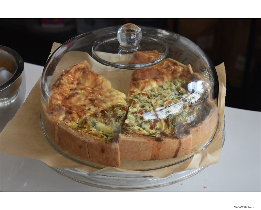 ... along with a couple of choices of quiche (one meat, one vegetarian).