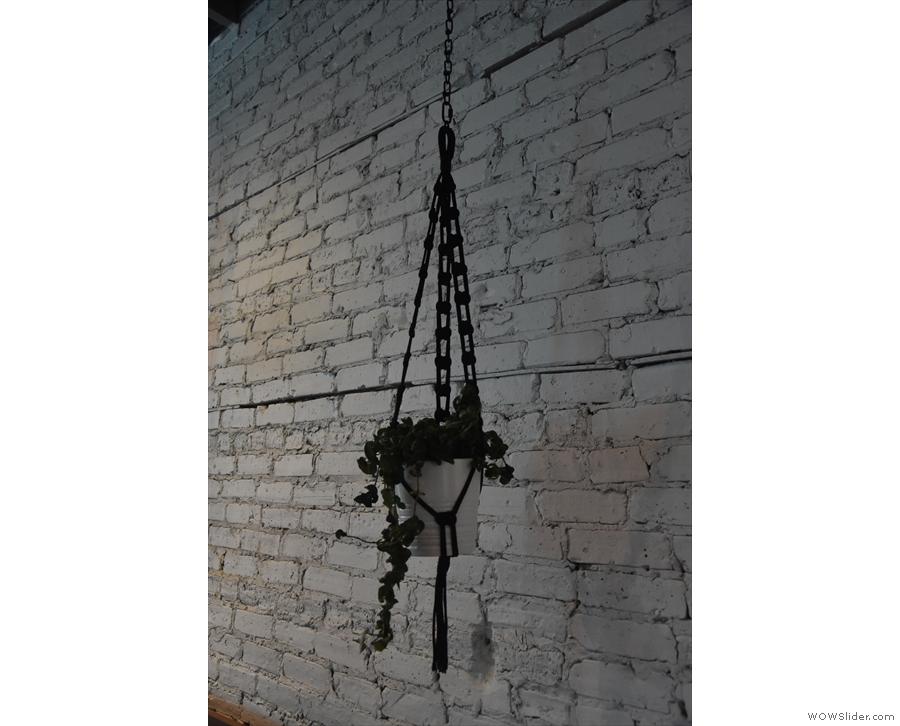 ... and hanging off hooks on the walls.