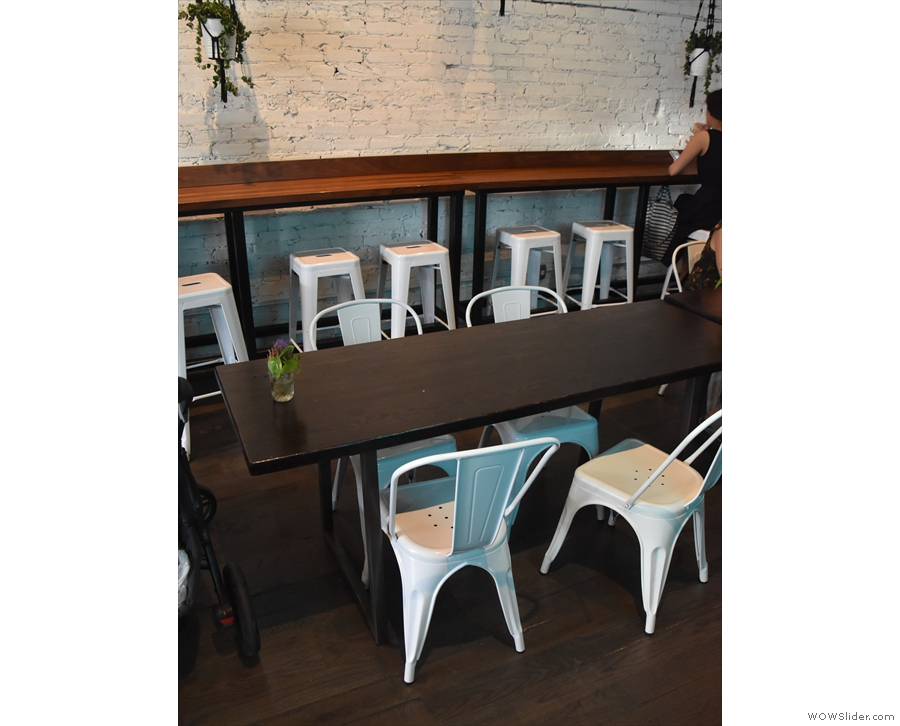 ... and a narrow, eight-person table down the middle.