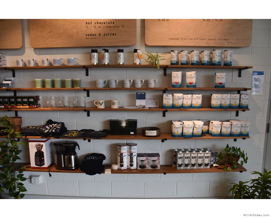 There's the usual selection of merchandising, coffee-making kit and, of course,...