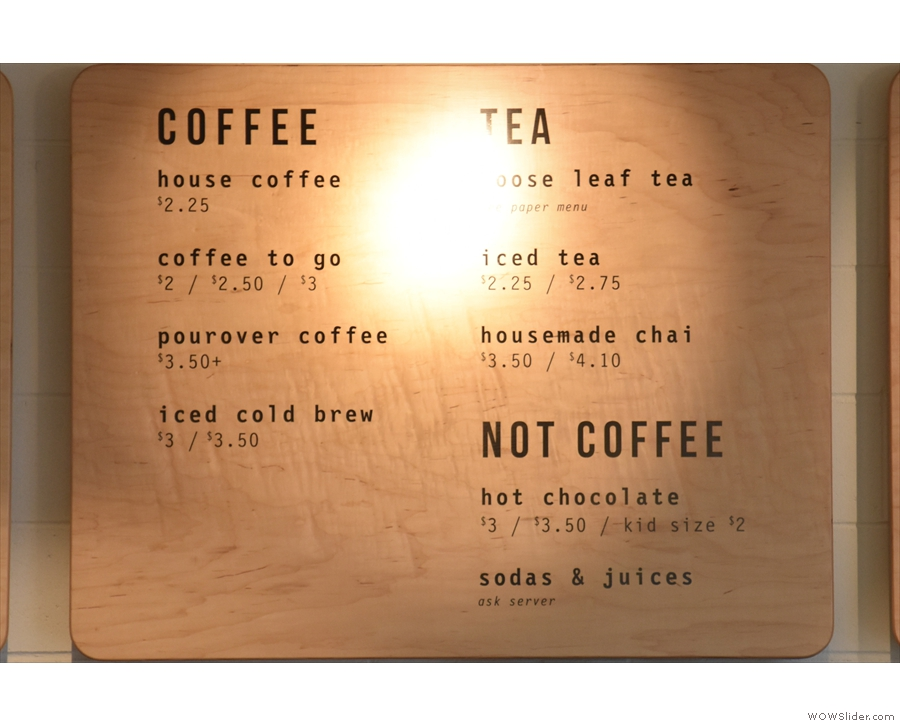 ... where you'll also find the tea and other drinks...