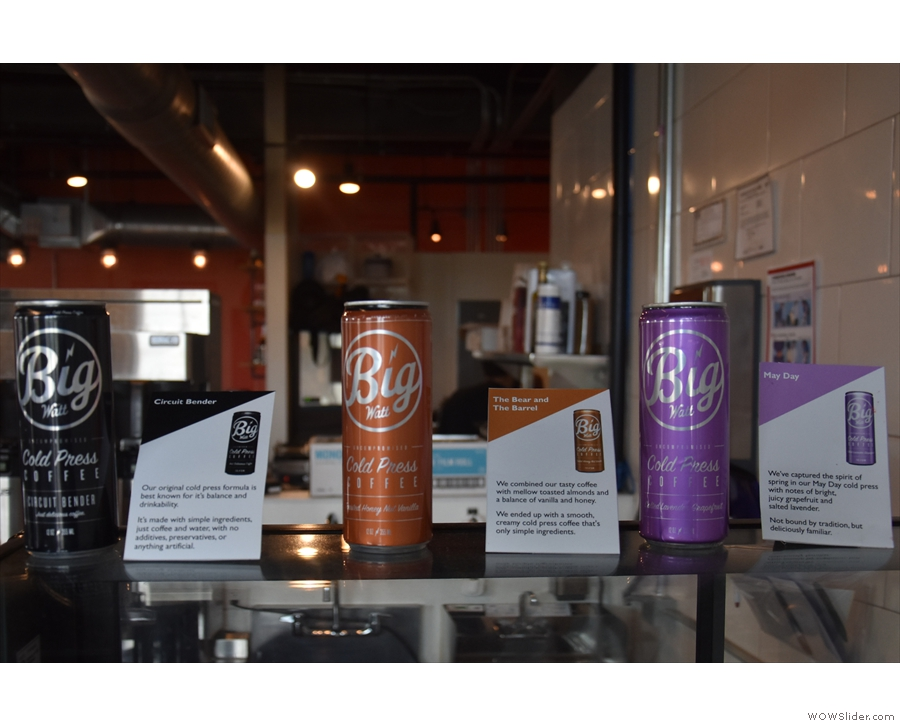 Five Watt has three flavours of cold brew in cans, with nitro (and plain) on tap.