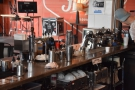 From the till, you also get a good view of the espresso set up...