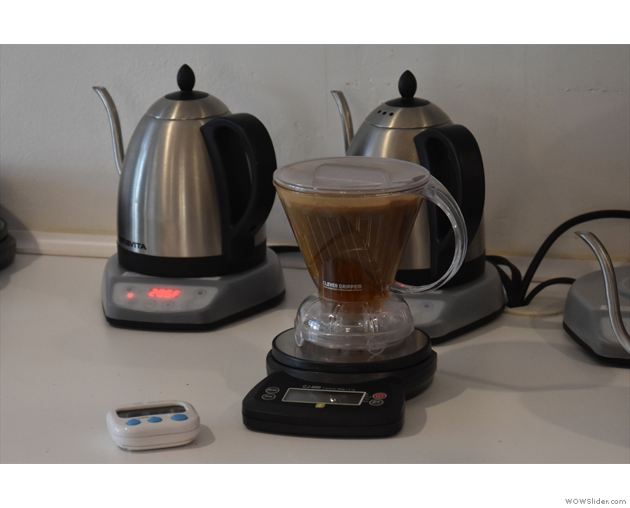 Finally, I tried the same coffee as a pour-over though the Clever Dripper.