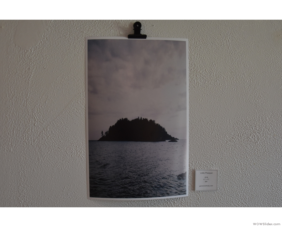 ... which are photos of local landmarks by Genevieve Healy.