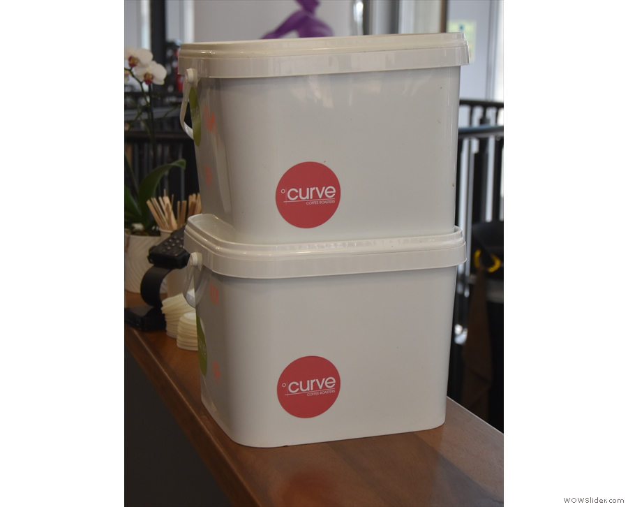 There was a delivery from Curve while I was there. The reusable tubs are a great idea.