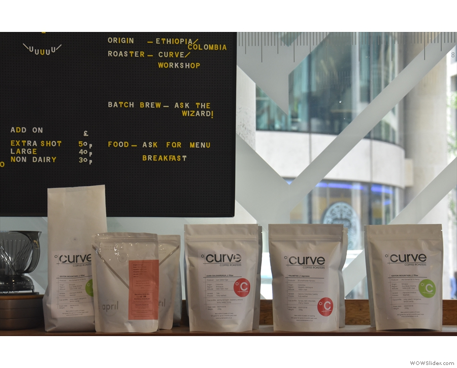 The coffee, by the way, is from Curve Coffee Roasters...