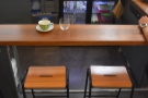 You'll find plenty of seating on the left-hand side in the shape of these bar stools...
