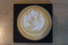 I was very impressed with the latte art...