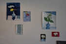 More of the art adorning the wall, this time over by the counter.
