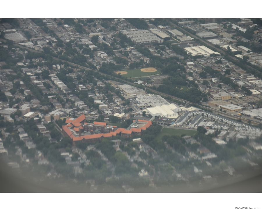That's the Carl Shultz High School on Milwauke Avenue...