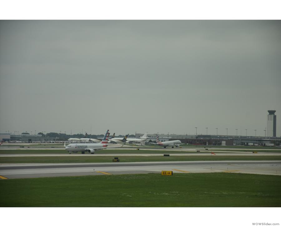 ... some taking off, some landing.