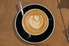 Nice latte art.