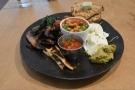 I also went for breakfast/brunch, a lovely full vegetarian.