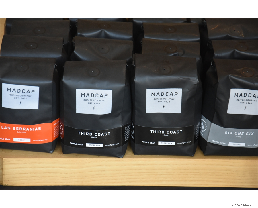 There are blends, such as Third Coast, the house espresso blend...