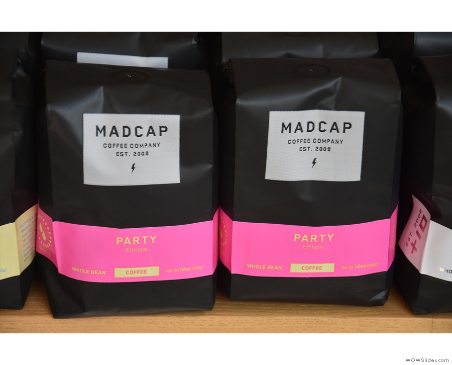 ... and single-origins, such as Party, from Ethiopia, the other espresso option.