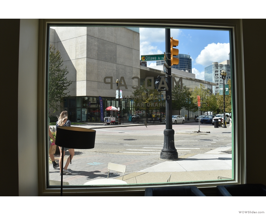The view out of the window (Ottawa Avenue) isn't too bad either.