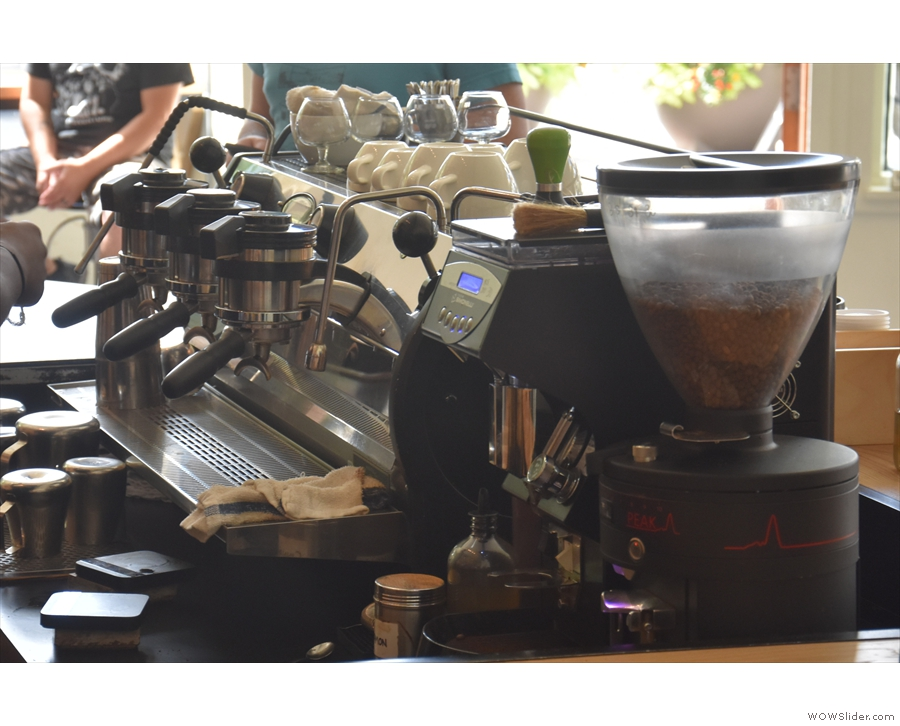 The other option is espresso. You get a good view of the Strada if you sit at the counter.