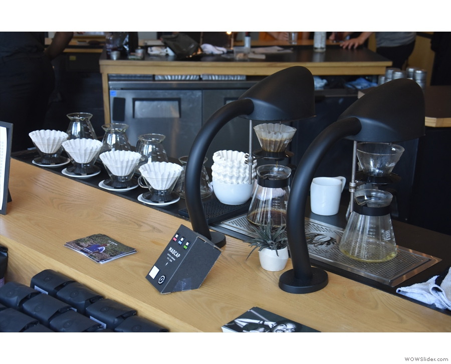 I was very tempted by the filter coffee. There are two Seraphim brewers, four Kalitas...