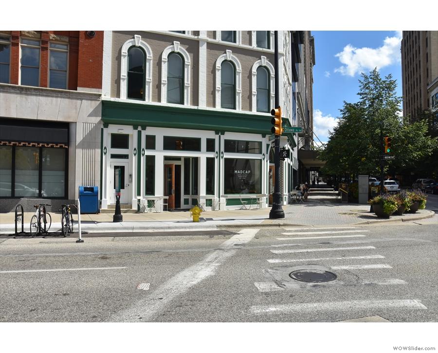 Madcap, Monroe Center, as seen from across Ottawa Avenue...